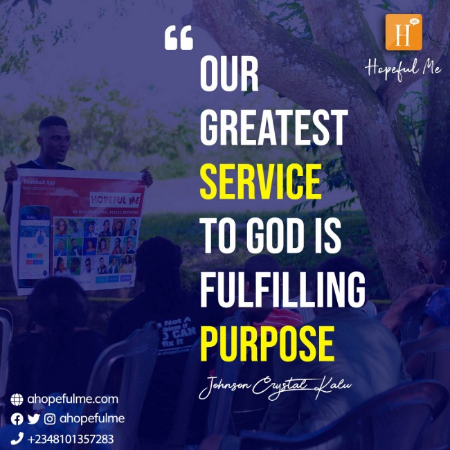 Fulfil purpose