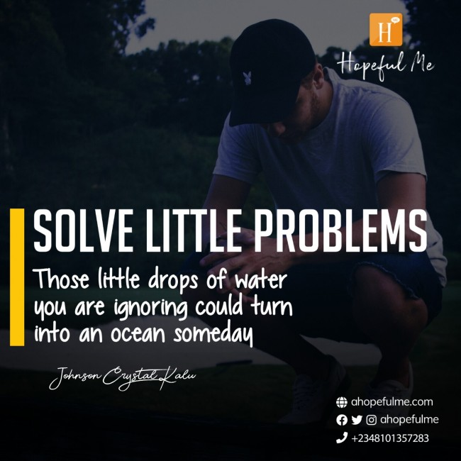 SOLVE LITTLE PROBLEMS