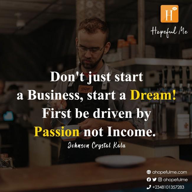 start a dream