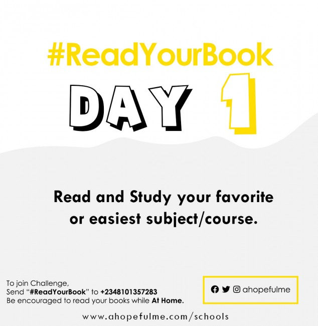 #ReadYourBook Day 1