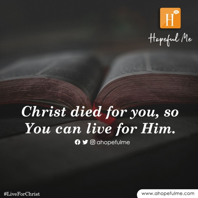 Live for Christ