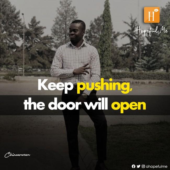 The door will open