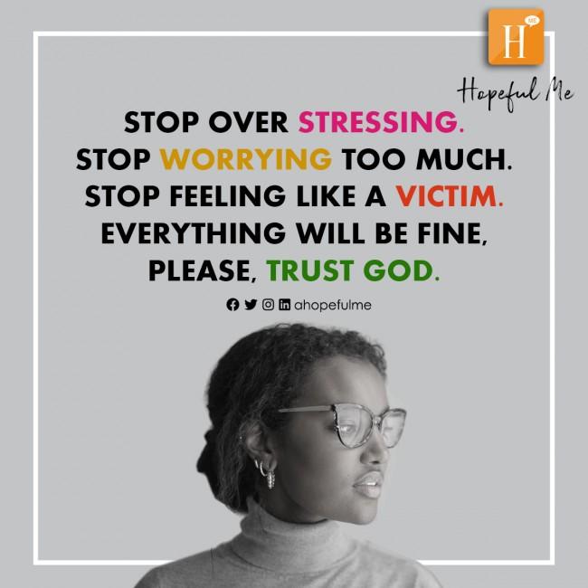 Please Trust God