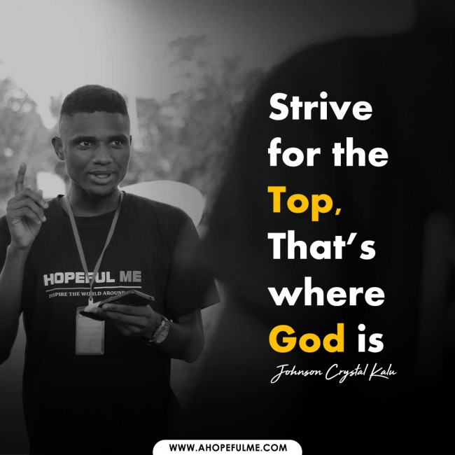 The Top is where God is