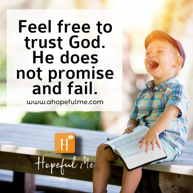 FEEL FREE TO TRUST GOD