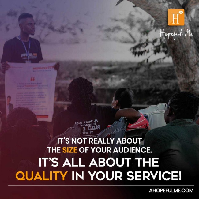 Quality in your service