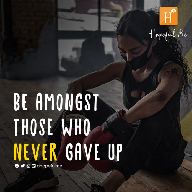 Those that never gave up