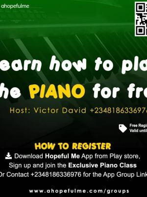 Online piano class