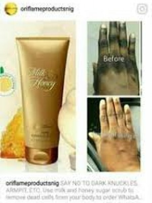 Oriflame milk and gold cream